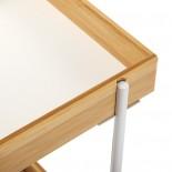 Madeira Rolling Storage Cart (Metal / Bamboo) - Versa