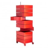 360° Container Drawer Unit 8 Compartments (Red) - Magis