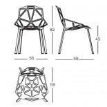 Chair One Stackable Chair (White / Aluminium) - Magis