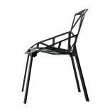 Chair One Stackable Chair (Black / Black) - Magis