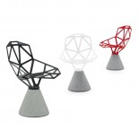 Chair One With Concrete Base (White) - Magis