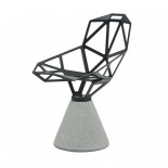 Chair One With Concrete Base (Black) - Magis