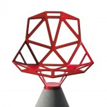 Chair One With Concrete Base (Red) - Magis