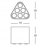 Poppins Umbrella Stand (White) - Magis