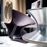 Spun Rotating Chair (Anthracite Grey) - Magis