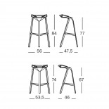 Stool One Stackable Bar Stool (Red) - Magis