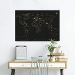 Magnet Travel Map (Black)
