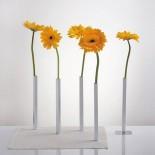 Magnetic Vase Set of 5 Aluminium Flower Vases (Silver) - Peleg Design