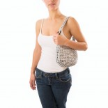 Maria Handmade Recycled Evening Bag (Silver) - Escama Studio