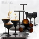 Maya Black Gold Champagne Glasses 150 ml (Set of 6) - Espiel