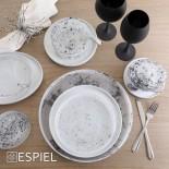 Maya Black White Wine Glasses 550ml (Set of 6) - Espiel