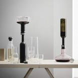 Wine Βreather Deluxe Carafe (Clear / Steel) - Menu