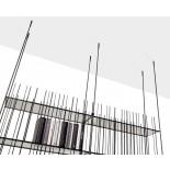 Metrica Wall Bookcase / Shelving Unit (Metal) - Mogg