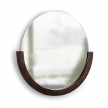 Mira Wall Mirror (Aged-Walnut) - Umbra