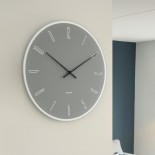 Mirror Numbers Wall Clock (Grey) - Karlsson