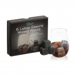 Granite Whisky Stones with Pouch (Set of 6) - The Mixology Collection