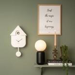 Modern Cuckoo Wall Clock (White) - Karlsson