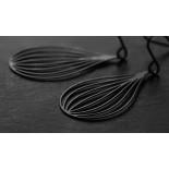 Seed Earrings S (Black) - Moorigin