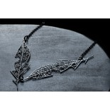 Skeleton Leaf Pendant D (Black) - Moorigin