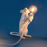 Mouse Lamp Standing (White) - Seletti