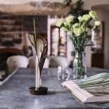 Lily Incense Burner (Steel / Wood) - Alessi