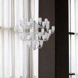 Amp Chandelier Large 35 LED Bulbs (White / White) - Normann Copenhagen