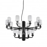 Amp Chandelier Small 15 LED Bulbs (Smoke / Black) - Normann Copenhagen