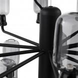 Amp Chandelier Small 15 LED Bulbs (Smoke / Black) - Normann Copenhagen