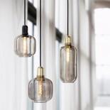 Amp Lamp Small (Smoke / Brass) - Normann Copenhagen