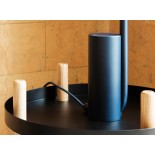 Block Table Trolley Round Ø45cm (Black / Ashwood) - Normann Copenhagen