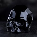 Memento Mori Faceted Skull Large (Black) - NUDE Glass