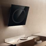Om Air Wall Kitchen Hood (Black) - Elica