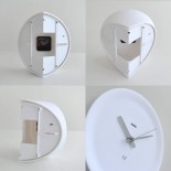 Ora In Corner Mounted Clock (White) - Alessi