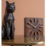 Origami Cat Sitting Statue (Black) - Present Time