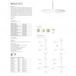 Bola Disc LED Pendant Lamp (Rose Gold) - Pablo Designs