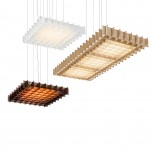 Grid Triple LED Pendant Light (Frosted White) - Pablo Designs