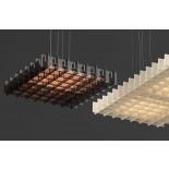 Grid LED Pendant Light (Acrylic Bronze) - Pablo Designs