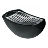 Parmenide Grater with Cheese Cellar (Black) - Alessi