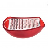 Parmenide Grater with Cheese Cellar (Red) - Alessi