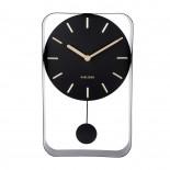 Pendulum Charm Small Wall Clock (Black) - Karlsson