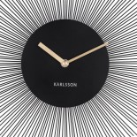 Peony Wall Clock (Steel Black) - Karlsson