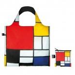 Piet Mondrian Composition Foldable Shopping Bag - Loqi