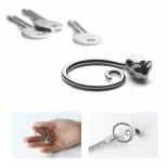 Pip Keyring (Stainless Steel) - Alessi