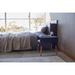 Plain Side Table with Storage Shelf (Black) - Yamazaki