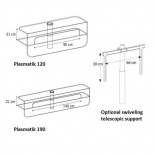 Glass TV Unit Plasmatik by Karim Rashid - Tonelli Design