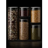 Podium™ 100 Glass Storage Container Set and Stand 5 Pieces - Joseph Joseph