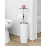 Portaloo Toilet Paper Stand (White / Nickel) - Umbra