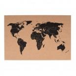 World Map Corkboard 60 x 40 - Present Time