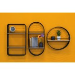 Linea Round Wall Rack - Present Time