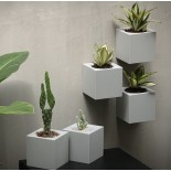Pixel Pot Self Watering Plant Pot (Grey) - Qualy